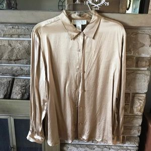 100% silk norton shirt button down